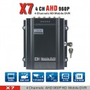 4 Channel AHD Mobile Car DVR 960P/720P