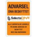 2 stk. Vindue SelectaDNA  Permanent Sikringsmærke