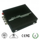 4-Ch HDCVI Video over Fiber Media Converter
