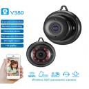 HD IP WIFI Hidden Bulb Camera with lamp led spy 360 degree fisheye panoramic camera 16GB