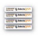 4 stk. SelectaDNA sikringsmærke til cykel, bådudstyr, kajak eller andet sportsudstyr.