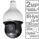 Starlight PTZ dome kamera 2 MP med 25 x optisk zoom indbygget IR-lys PoE+ DH-SD59225U-HNI
