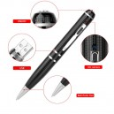 2K Starlight Night Vision Full HD 1296P Clearest video audio recorder 16GB digital pen hidden camera