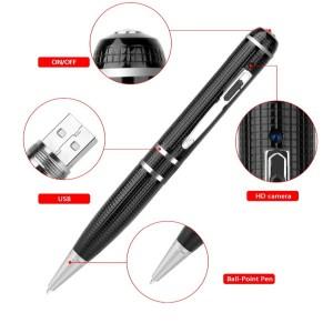 2K Starlight Night Vision Full HD 1296P Clearest video audio recorder 16GB digital pen hidden camera