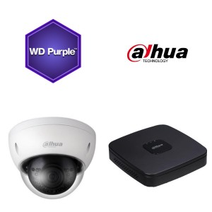 Dahua NVR KIT 2X4 MP DOME KAMERA 2,8MM