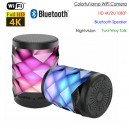 WIFI Lamp Camera, HD 4K/2K/1080P, Bluetooth Speaker, Color Lamp, Two-way Talk
