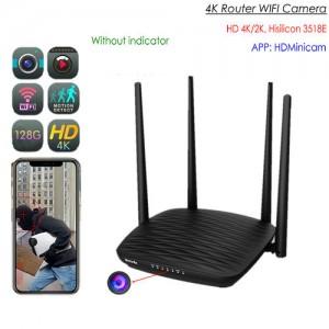 4K WIFI Router Camera, HD 4K/2K, Hisilicon 3518E, 2.0MP Camea,TF Max 128GB,App: HDMinicam pro