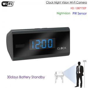 WIFI Clock Camera, PIR Sensor,