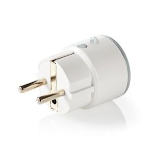 Smart Plug med Wi-Fi Effektmonitor Schuko-type F 10 A