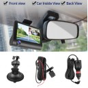 4'' Three Lens Mirror Car DVR 1080p Full HD Video Driving Recorder Rearview Camera Dash Cam G-Sensor Night Vision Dashcam