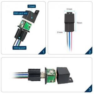 Small and easy to hide remote cut off power Glonass + GPS + LBS positioning long rang gps tracker