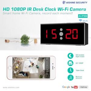 HD 1080P IR Desk Clock Wi-Fi Security Camera